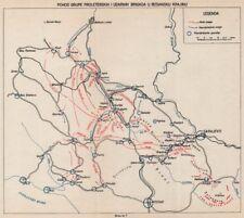 Bosnia y Herzegovina. proleterskih. bosnio Krajina Brigada. Sarajevo 1942 1957 Mapa