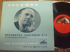 """BLP 1036 Beethoven Piano Concerto No. 4 / Solomon R/G 10"""" LP"""