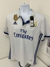 **SERGIO RAMOS** REAL MADRIDHOME SHIRT BNWT 2016-17 SIZE LARGE