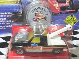 Matchbox 1992 Limited Edn Superfast Indy 500 OFFICIAL GMC WRECKER + Coin NewBxd
