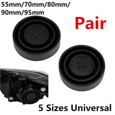 Pair Car Headlight LED HID Seal Cap Dust Cover Retrofit 55mm/70mm/80mm/90mm/95mm