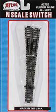 NEW Atlas Code 80 #6 Switch Custom Line Left-Hand Black N 2752