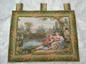 5011 - Old French / Belgium Tapestry Wall Hanging - 110 x 84 cm
