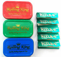 Tobacco Tin with 5 rizla green Papers with 1oz tobacco tins