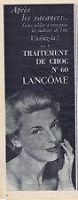 PUBLICITE ADVERTISING 074 1953 LANCOME traitement de choc n°60