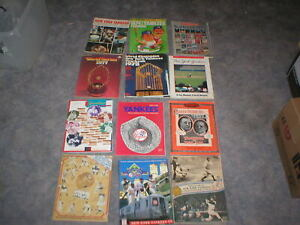 1968 -1997 NEW YORK YANKEES YEARBOOK AND PROGRAM LOT-12 DIFF-MANTLE-MUNSON