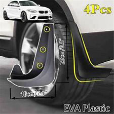 4Pcs EVA Plastic Moulded Mudflaps Mud Flaps Front/Rear Car Fender Splash Guards