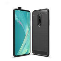 Oneplus 7 Pro Étui Coque Téléphone Portable Protection Pochette de Carbone Noir