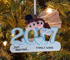 Our 1st Christmas Wedding Couple's 2017 Just Married Christmas Wedding Ornament