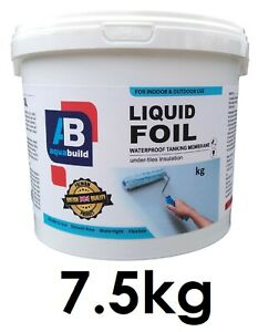 7.5kg Waterproof Tanking Membrane Aqua Build Liquid Foil Shower Wet Room System