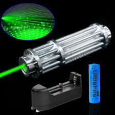 Military 532nm Laser Pointer Pen Green Zoomable Visible Beam Light 18650 Charger