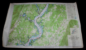 1968 Tennessee River Navigation Chart Map Chickamauga Lake Chattanooga M 480-493