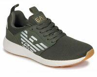 Sale Emporio Armani X8X023 XCC05 Fusion Racer U Mens Trainers Green Gym Shoes