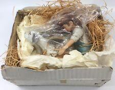 Nib Vintage 1979 Norman Rockwell Figurine Girl Bathing Dog w/ Tag Mint Gift