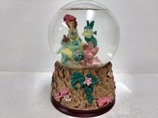 Disney The Little Mermaid Glitter Snow Globe Classic RARE Flounder Ariel   ch130