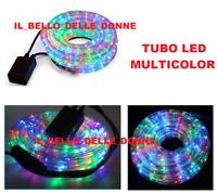 TUBO LED IMPERMEABILE ESTERNO 20 MT BIANCO FREDDO ORO CALDO COLORATO MULTICOLOR
