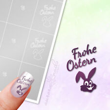 Stencils Airbrush + Nailart O055 Happy Easter Rabbit Bunny Adhesive