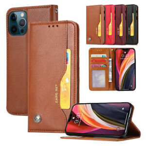 For iPhone 13 Pro Max Mini Classic PU Leather Wallet Phone Flip Case Stand Cover