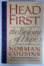 Head First - The Biology of Hope by Norman Cousins Dutton HC/DJ 1st/1st 1989