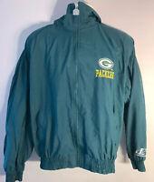 Vintage Logo Athletic NFL Pro Line Green Bay Packers Windbreaker Jacket Size L
