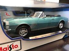 Maisto 1:18 Scale Diecast Model - 1967 Chevrolet Camaro RS/SS 396 (Blue)