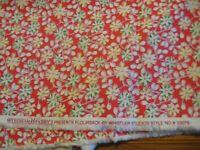 Floursack Windham Fabrics quilter fabric  Red Flower Vines 2 yards flour sack