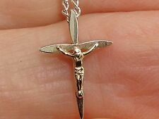 BEAUTIFUL MARVEL STERLING SILVER CRUCIFIX PENDANT NECKLACE!16""