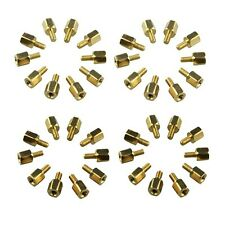 40Pcs DIY Project M2.5 x 5 + 5mm Hex Brass Standoff Spacers For PCB Board