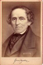 Opera, composer Giacomo Meyerbeer photography , autograph 1880 Cabinet cdv