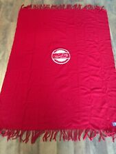 Vtg Pendleton Wool Fringed Solid Red Blanket Throw 68 x 52 Warm And Cozy Season