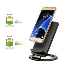 Fast Qi Wireless Charging Charger Dock Pad Stand For Samsung Galaxy S8 S6 S7 Edg