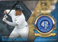 2017 TOPPS  BASEBALL HOF JACKIE ROBINSON  LOGO PATCH - MIGUEL CABRERA - TIGERS