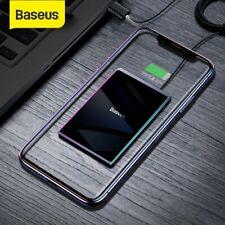 Baseus 15W Qi Wireless Charger Ladegerät Fast Ultra Dünn Pad für Samsung Iphone