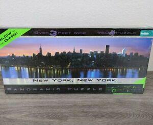 Buffalo Games Panoramic Puzzle, New York City Glow in the Dark - 750pc Jigsaw Pu