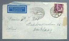 Openingsvlucht DC3 dienst NED. INDIE Bandoeng - Den Haag Holland 16-6-1937 BC70