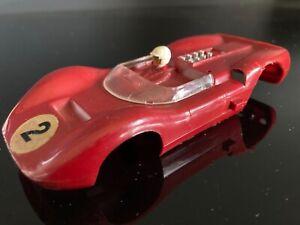 STROMBECKER 1/32 VINTAGE RED DINO FERRARI SLOT CAR