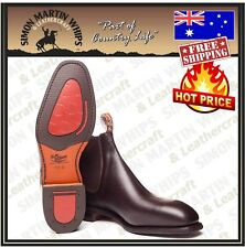 RM Williams Dynamic Flex Boots CHESTNUT Craftsman AUSTRALIAN MADE NEW- G & H Fit