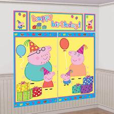 Peppa Pig Cartoon Birthday Party Scene Setter Wall Decoration Backdrop Kit