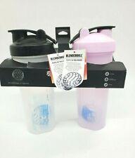 2 PK BlenderBottle Shaker BlenderBall Bottle 32 oz  Ball Shaker NEW Pink Clear