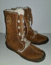 Blondo brown suede faux fur lined lace up winter boots. 7