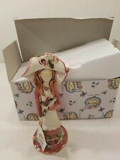 Blue Sky Clayworks Heather Goldminc Lady Coral Figurine 2002 Rose Opened Box
