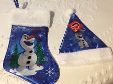 Disney Frozen Olaf Christmas Stocking and Hat Nwt