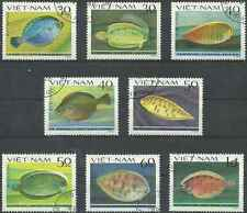 Timbres Poissons Viet Nam 373/80 o lot 2631