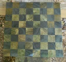 GORGEOUS HANDCRAFTED MARBLE & STONE CHESS BOARD REVERSIBLE TO TABLE TOP #5108#1
