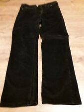 Ladies Black Corduroy Trousers Size 14
