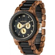 WeWood Kappa Zebrano Natural Wooden Watch Multi-Function African Beli Wood