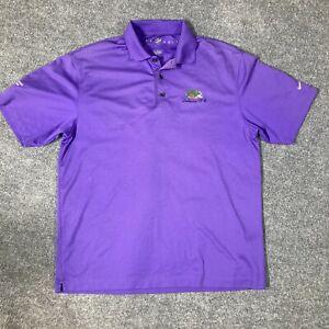 Nike Golf Large Men's Lakewood Golf Course Purple Collared Shirt