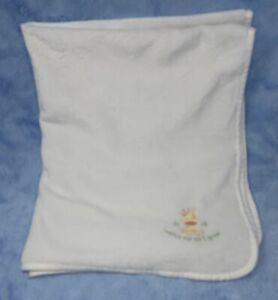 Carters White Baby Blanket Watch Me As I Grow Giraffe