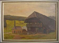 ::WILLI HENSELMANN *1896 SCHWARZWALD ANWESEN MIT KAPELLE JUGENDSTIL ART DECO KP