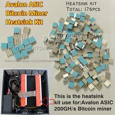 DIY Aluminum Heatsink Cooler Cooling kit(176pcs) For Avalon  Bit coin ASIC Miner